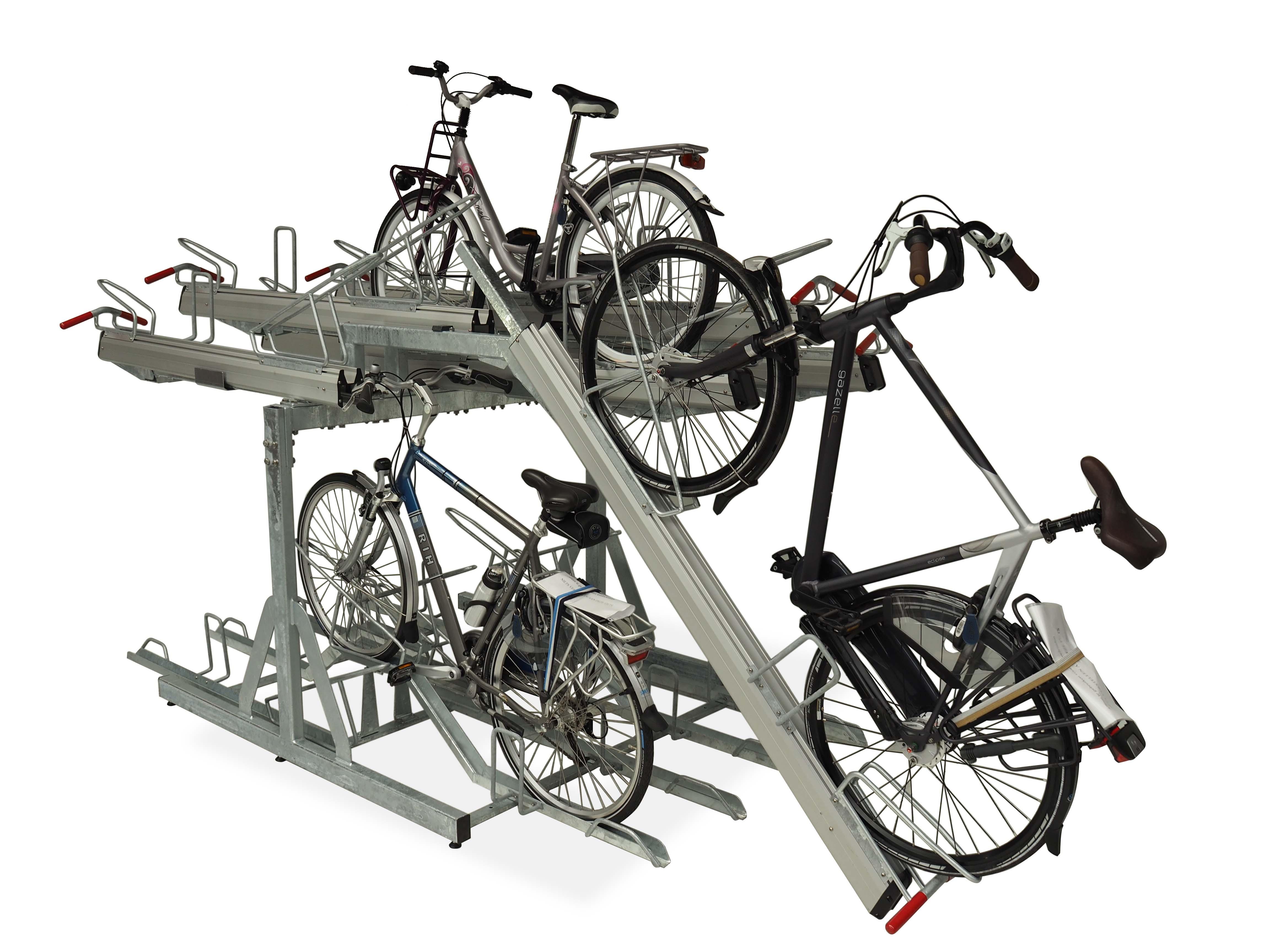 FALCO Level Premium+ kakskikerroksinen polkupyöräteline, runkolukittava